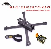 3K Full Carbon Fiber True X XL5 V2 232mm / XL6 V2 283mm / XL7 V2 294mm / XL8 V2 360mm with Matek PDB Frame for FPV Racing(China)