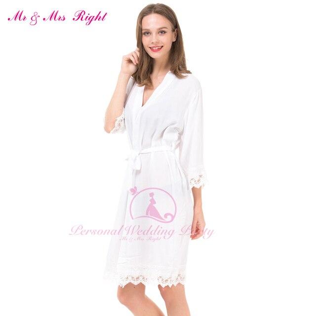 11 Colores Sexy Batas de Encaje Para Las Mujeres Novia Y Dama de Honor 5 Unids/set Casual Ropa De Novia Embarazada Mujeres Kimono Albornoces Bata