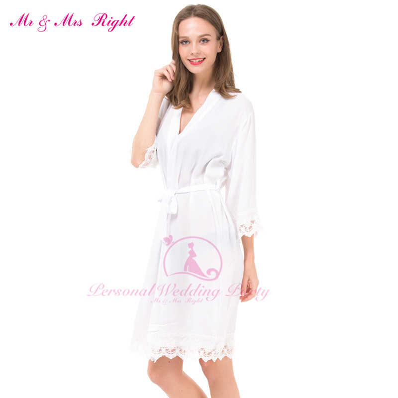 5173691777 11 Colors Sexy Lace Robes For Women Bride And Bridesmaid 5 Pieces Set  Casual Bridal