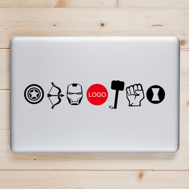Iron Man Thor Captain America Symbol Laptop Decal For Macbook