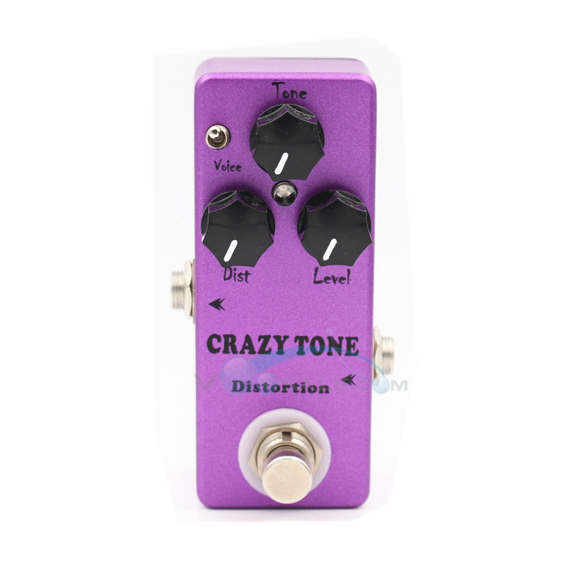 Mosky Distortion Mini Single CRAZY TONE Electric Guitar Effect Pedal with True Bypass Two Mode Voice Choose Dist/ Level/ Tone sews aroma aov 3 ocean verb digital reverb electric guitar effect pedal mini single effect with true bypass