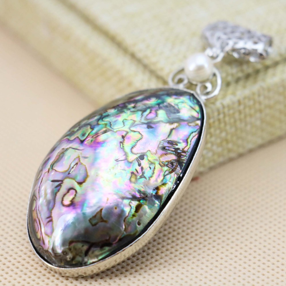 33*50mm Natural Abalone seashell sea shell pendant Lucky Accessories Series stripe jewelry making design diy crafts girls gifts