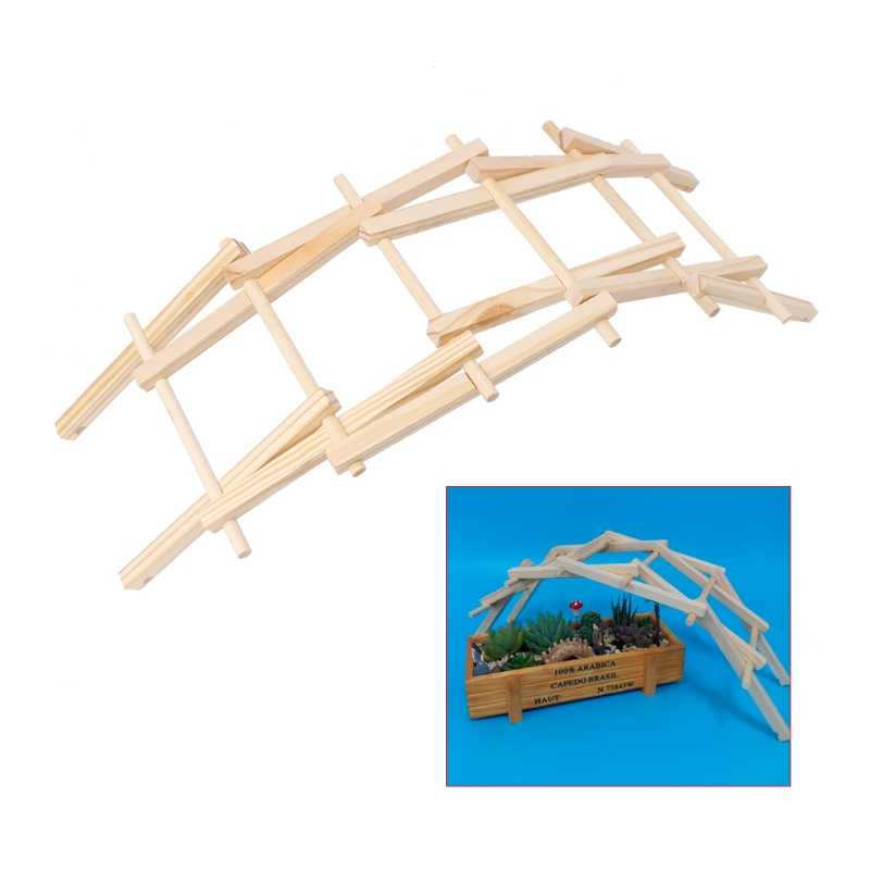 Da Vinci Bridge Pathfinders Wood Construction Model Kit Building Blocks Kids Toy