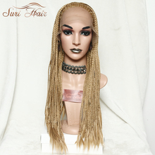 Suri Hair Lace Front Golden Synthetic Wig African American Braided Wig For Black Women 26inch цена 2017