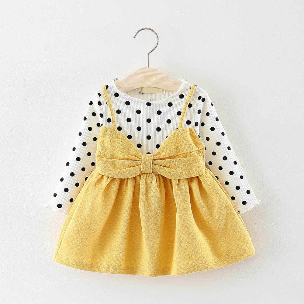 5e00d5fc4a3c3 infant winter newborn baby girls dresses knitting long sleeve dot bowknot  birthday princess dress baby New year dresses #5