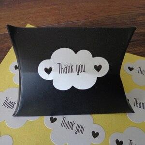 Image 3 - Pegatina de foca blanca en forma de nube, 102 Uds., etiquetas de papel de agradecimiento, bolsa de regalo para caramelos, caja de papel, pegatina para boda, fiesta, Favor, decoración DIY