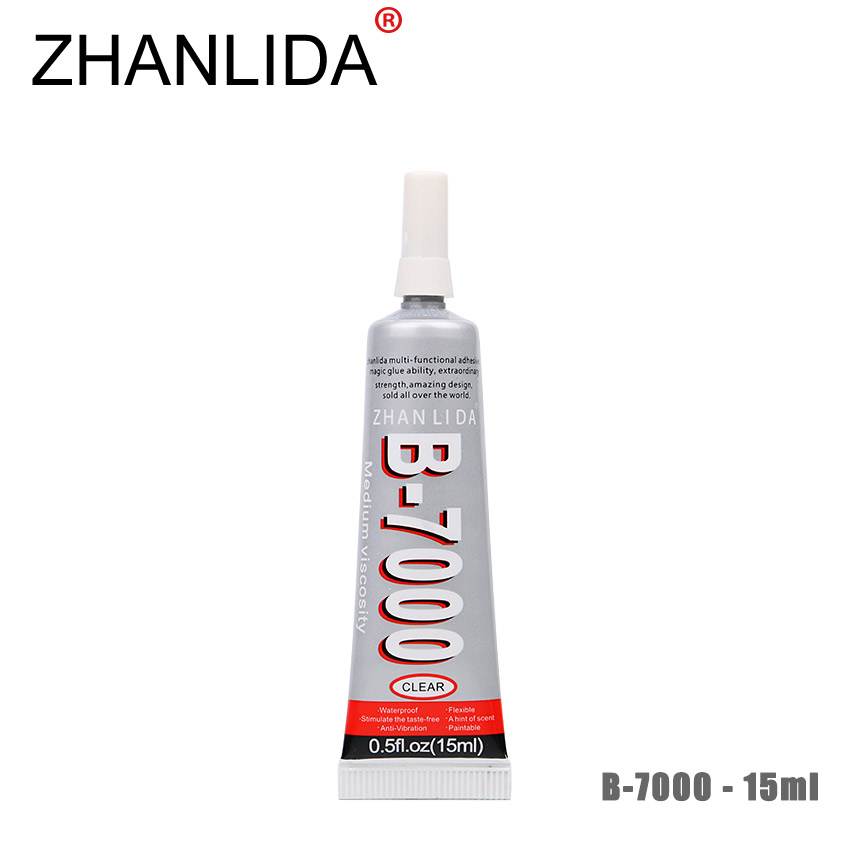 ZHANLIDA B 7000 15ml Multipurpose Adhesive Diy Jewelry Rhinestones Fix Touch Screen Middle Frame Housing Glass