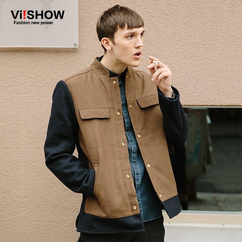 VIISHOW 2017 New Style Short Trench Coat Men Brand Clothing ...