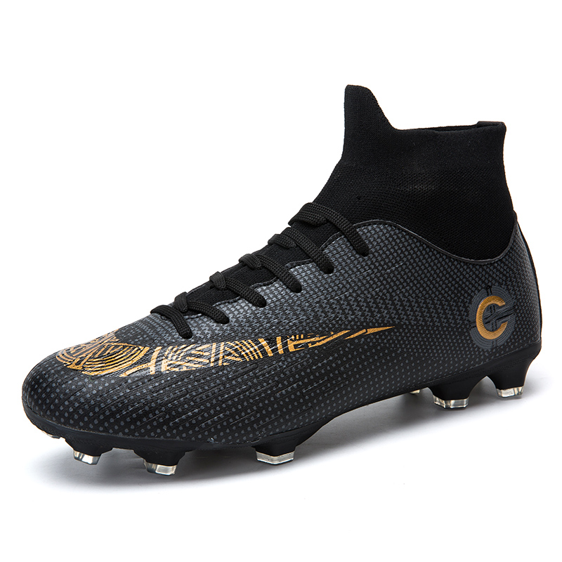 LEOCI Uomini Bambini scarpe Da Calcio Con Alta Caviglia High