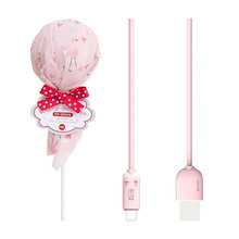 Lollipop data line Micro/Type c/lignting multiple choice creative cute fast charging line data line for iphone/android phone