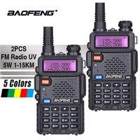 2PCS Baofeng UV 5R Hot Sale Walkie Talkie 5W Vhf Uhf Dual Band Portable Woki Toki UV5R Pofung CB Ham Radio Station Baofeng UV 5R
