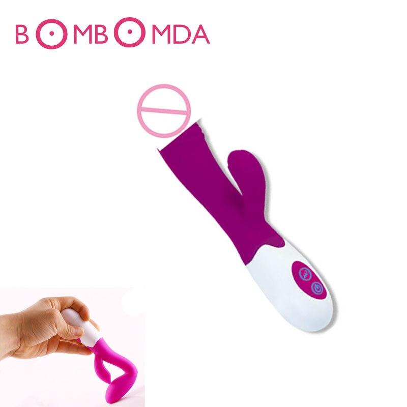 Dual Vibration G spot Dildo vibrators for women Female Masturbator font b Sex b font Vibrator