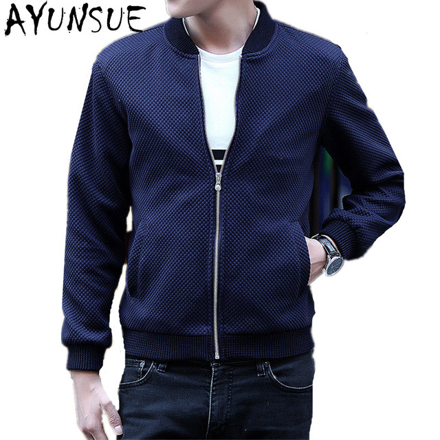 ayunsue baseball hommes bomber vestes blouson homme printemps automne bleu bomber veste hommes. Black Bedroom Furniture Sets. Home Design Ideas