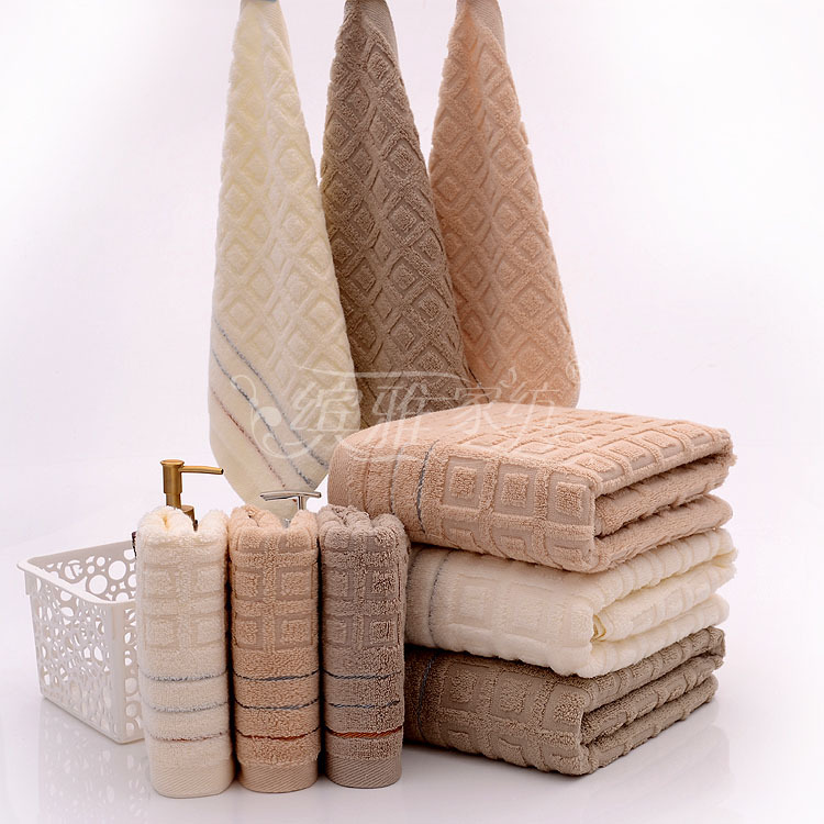 2 3PCS Elegant Cotton Terry Bath Towels Sets for Adults,High Quality ...