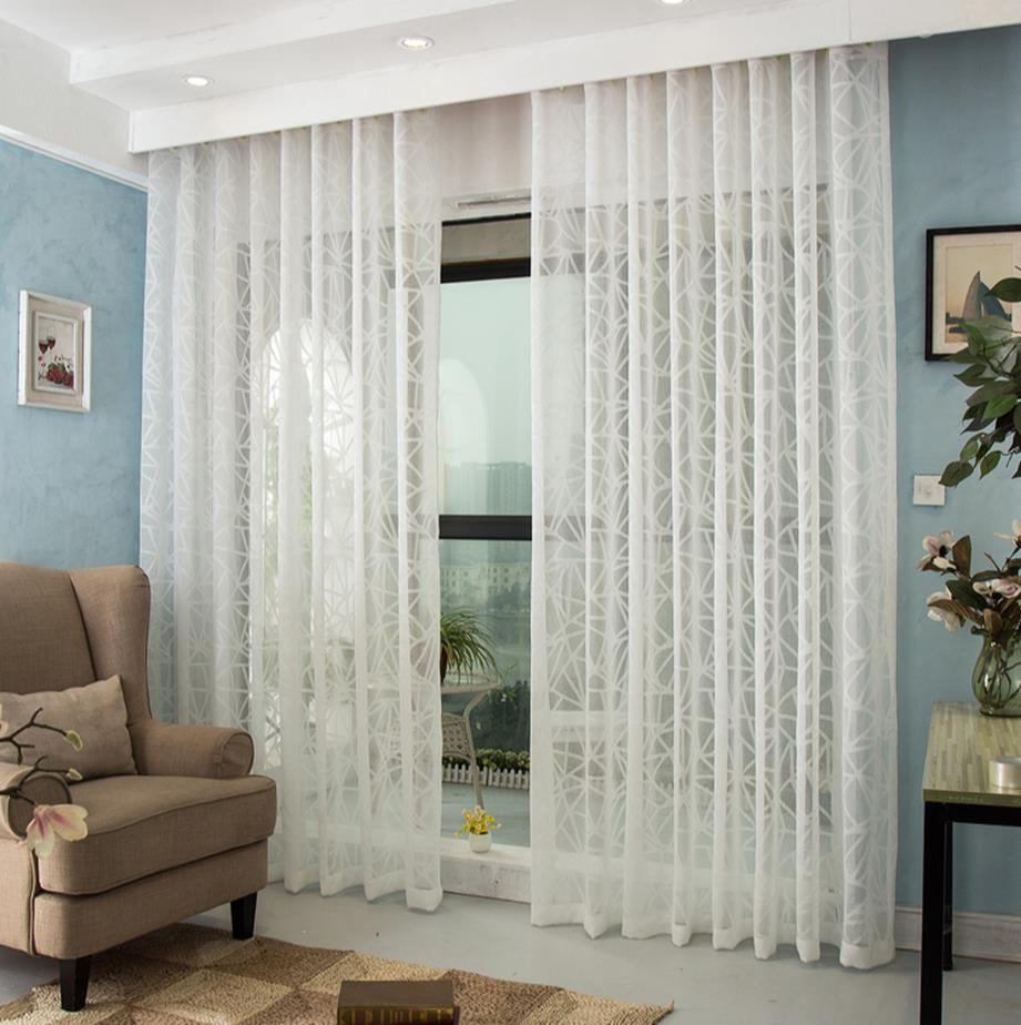 Luxury living room balcony window screening water state grid curtain ...