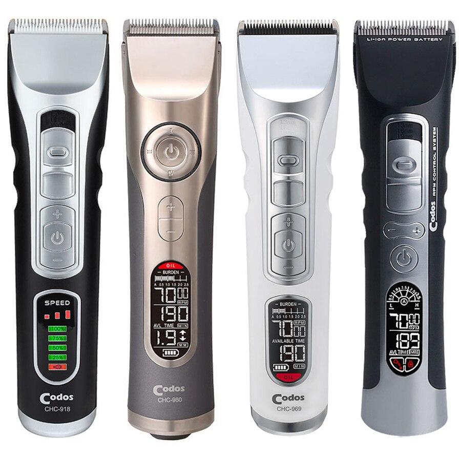 Tondeuse à cheveux Rechargeable professionnelle Codos pour Salon de coiffure tondeuse électrique coupe-cheveux en céramique Machine de découpe