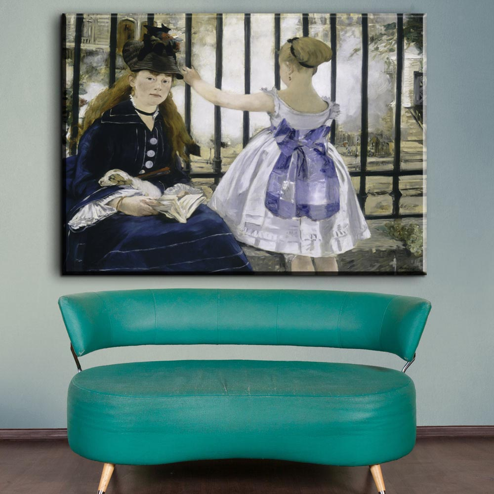 ZZ1355 Impressionism Oil Painting Edouard Manet The Railway Home Decor Wall Pictures For Living Room Canvas Art Printed