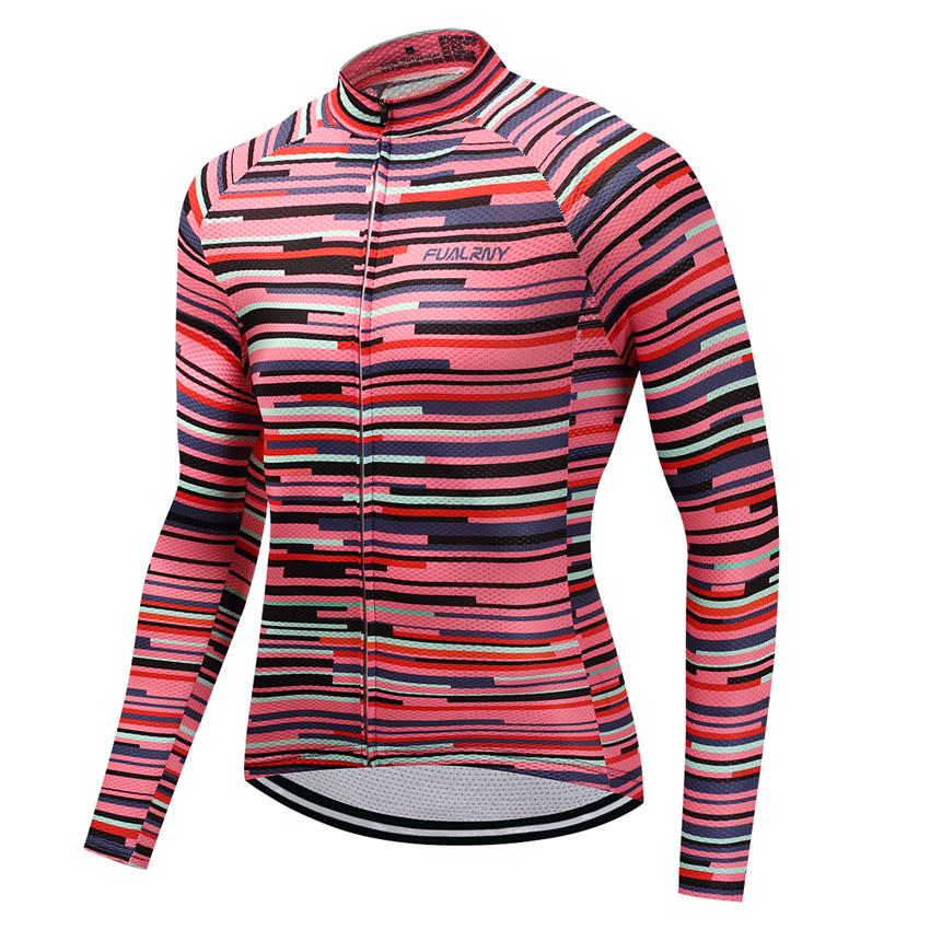 2018 Outdoor Fitness Sports Long Bike Cycling Jersey Bycicle Cycling Clothing Mens Spring And Autumn Ropa Ciclismo FU21 XS-3XL ...