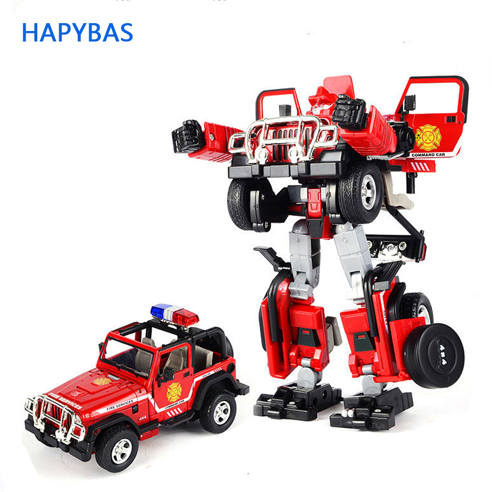 Genuine Metal Robocar command car Transformation Alloy fire series Deformation Robot car Toys For Kids children Christmas toy alloy high quality robocar robot transformation car toys alloy deformation robot bus toys for kids children christmas toy