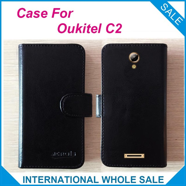 Hot!! 2016 Oukitel C2 Case, 6 Colors High Quality Leather Exclusive Cover For Oukitel C2 tracking number