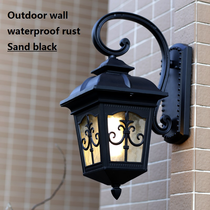 Vintage Outdoor Wall Lamps : American fashion waterproof outdoor wall lamp vintage outdoor led balcony lamps -in Outdoor Wall ...