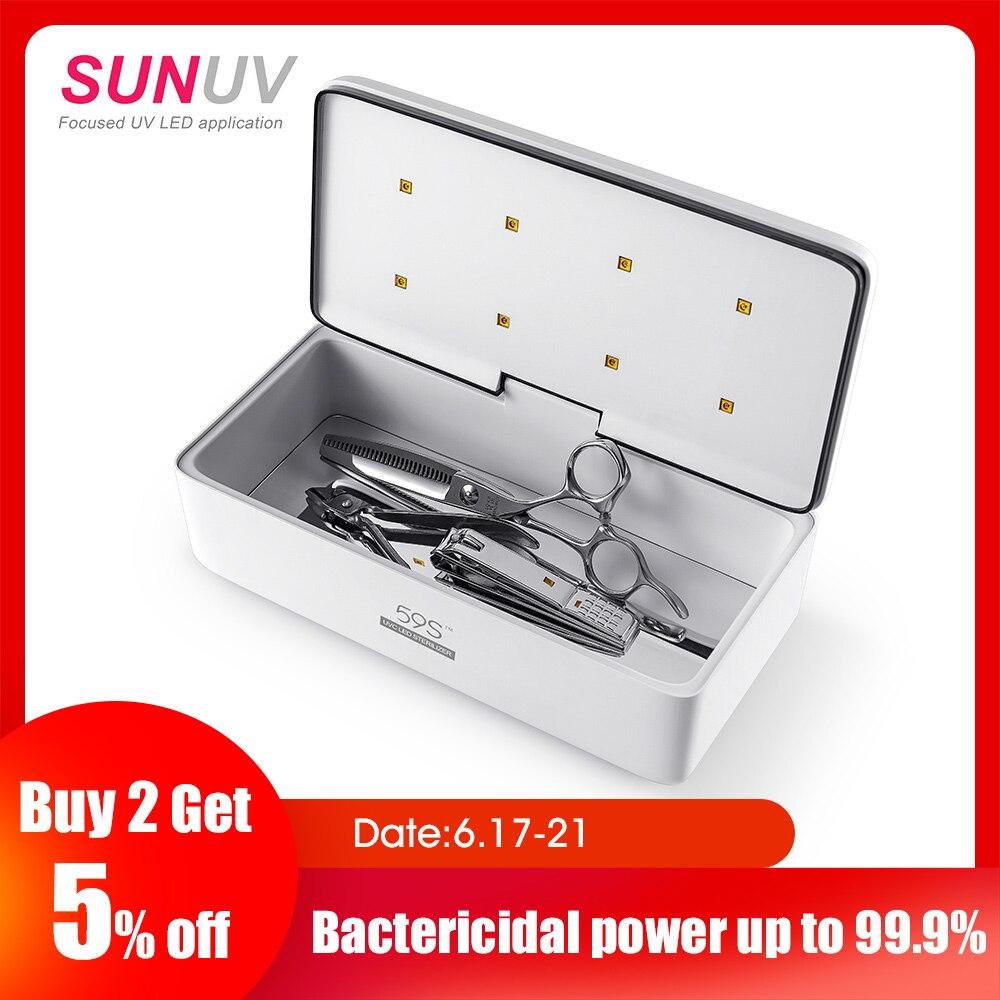 SUNUV 59S UV stérilisateur boîte outils de beauté stérilisateur boîte de rangement S2 Portable désinfection boîte pour Salon Nail Art outils