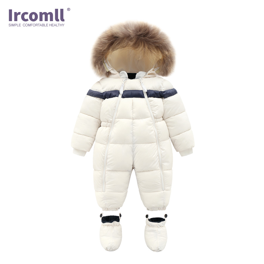 cd489e4f9 Ircomll Children Winter Outwear Infant Baby Boy Girl Rompers Thicken ...