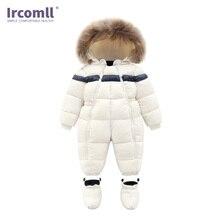 Ircomll Children Winter Outwear Infant Baby Boy Girl Rompers Thicken Fur Snowsuit  Surper Warm Jumpsuit Toddler