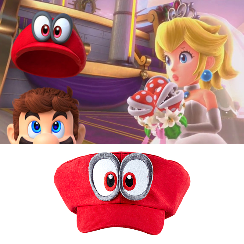 Novelty & Special Use Costume Props Super Mario Hat Red Odyssey Wearable Baseball Caps Unisex Drop Shipping