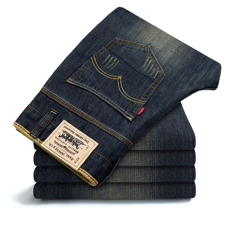 Men s autumn and winter Slim Straight jeans loose pants