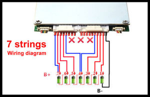 Image 3 - 80A 100A 320A 300A 400A 7S 16S 8S 20 Lithium Li ion LiFePO4 Pin PCB BMS Ban Bảo Vệ Bluetooth 10S 12S 13S 14S 18S 19S