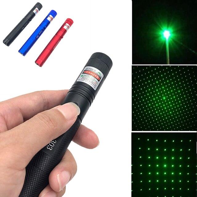 10000m 532 ננומטר ירוק לייזר Sight לייזרים נקודת עוצמה מכשיר מתכוונן פוקוס לייזר עם לייזר 303