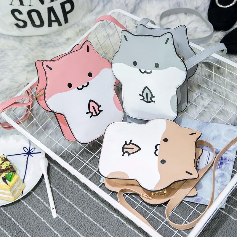 New Arrival Lolita Hamster Bag 2017 Mouse Cartoon Women Messenger Bags Shoulder Casual Hit Color Hamsters Cute Crossbody Bags