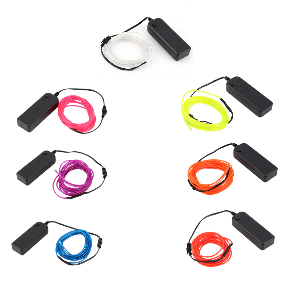 Automobiles & Motorcycles Conscientious White El Wire Cars Motorcycles Bike Holiday Decoration 3m Dc-3v Flexible 2.3mm Light Glow Rope Tape Cable Strip Led Neon Lights