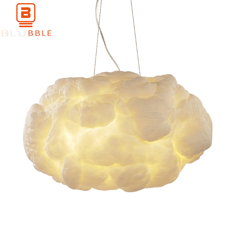 BLUBBLE Silk Flaky Clouds Pendant Lights Northern Europe Peach Restaurant Pendant Lamp Originality AC 110V-240V Coffee HanglampBLUBBLE Silk Flaky Clouds Pendant Lights Northern Europe Peach Restaurant Pendant Lamp Originality AC 110V-240V Coffee Hanglamp