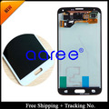 Free shipping 100% Original For Samsung Galaxy S5 i9600 SM-G900 SM-G900F G900 LCD Display Touch Screen Assembly +Sticker