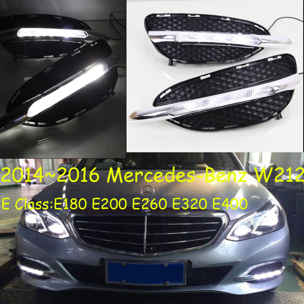 W212 daytime light;2014~2016, Free ship!LED,W212 fog light,2ps/set;W212,E Class:E180 E200 E260 E320 E400 teana fog light 2pcs set led sylphy daytime light free ship livina fog light