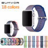 BUMVOR Sport Woven Nylon Band Strap For Apple Watch 42 Mm 38 Wrist Braclet Belt Fabric