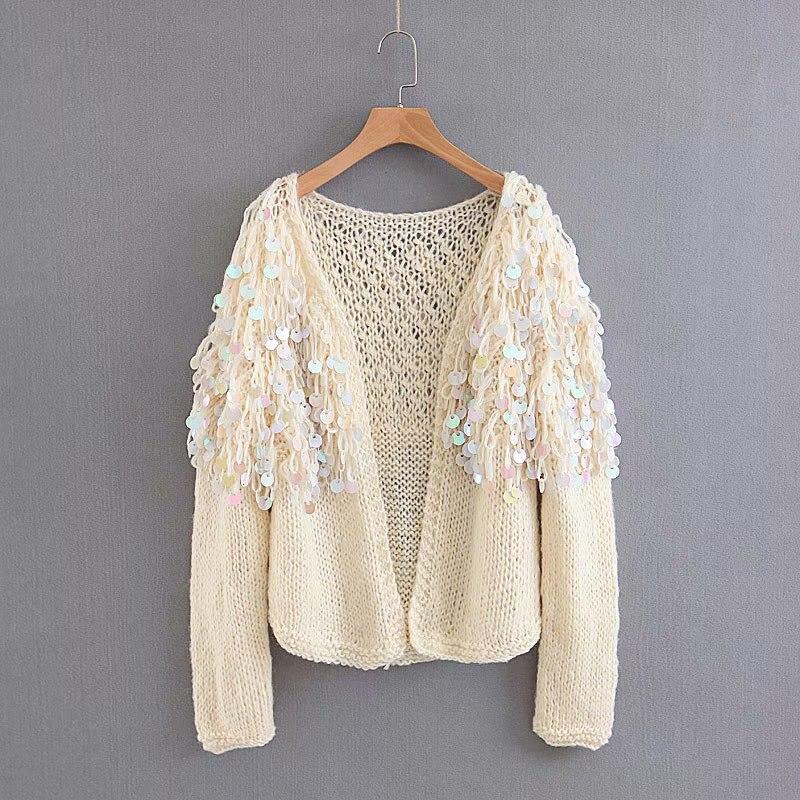 TEELYNN Boho women cardigan sweater 2018 winter sequins glitter long sleeve  mohair coat Casual knitted women sweaters outwear. 1 2 4 12 13 14 15 16 17  18 ... 494640f9c7b9