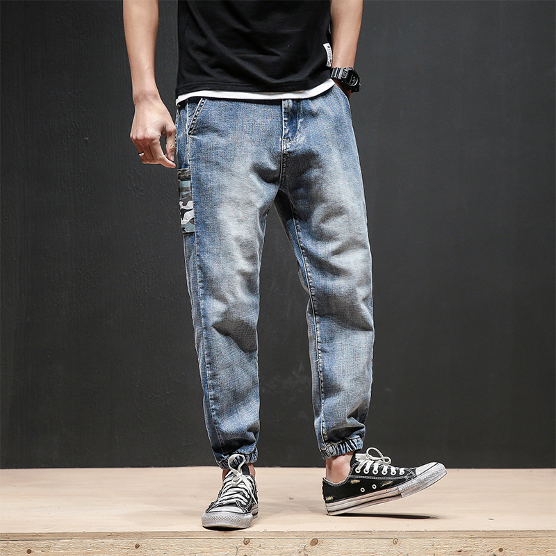 H.A. Sueno 2018 new Japan style mens jeans vintage cropped pants spring and summer casual trousers factory price drop shipped