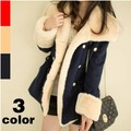 2017 Preppy Women Fashion Winter Warm Coats Women Wool Slim Double Breasted Coat Jacket Casual Women Fur Outerwear Coat Jacket