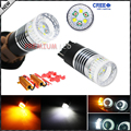 (2) Canbus Error Free 7443 7444 992A T20 Dual-Color White/Amber Switchback LED Bulbs For Front Turn Signal + Load Resistor Combo