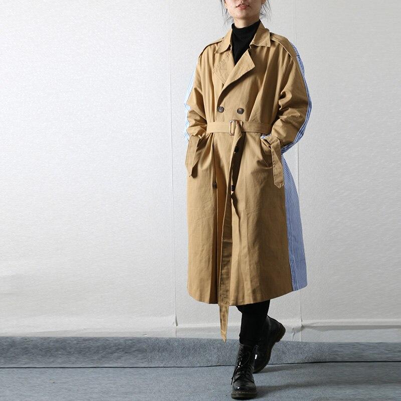 SuperAen Women Clothes 2018 Autumn Fashion Double Breasted Long   Trench   Coats New Plus Size Streetwear Outwear Women Long Coat