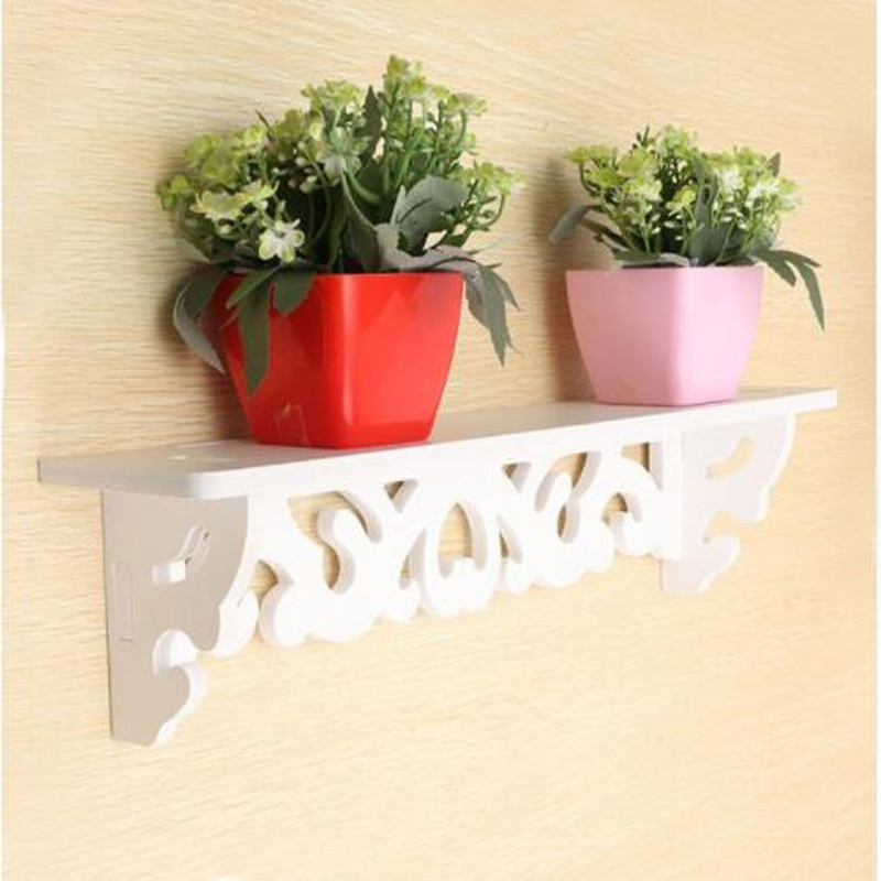 PVC Pastoral  White Carving Board  Display Wall Shelf Rack Storage Wall-mounted Partition Wall Covering  Home Decoration
