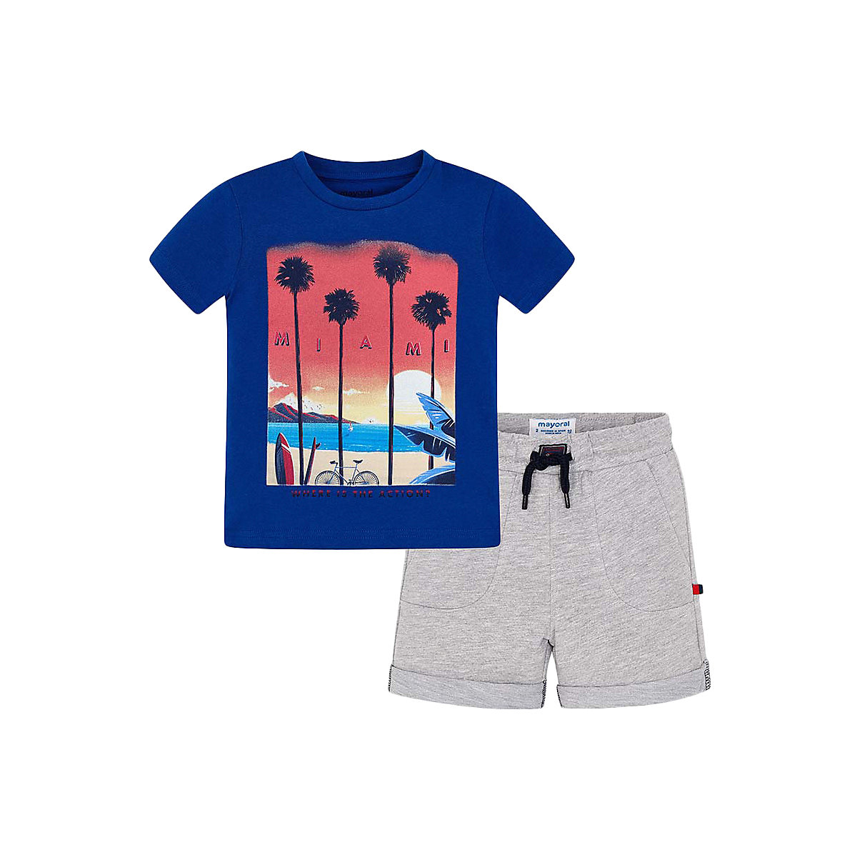 Baby's Sets MAYORAL 10687241 set of clothes for kids T-shirt legs shirt shorts girls and boys hot summer sportswear jerseys shorts skeleton pattern cycling sets for outdoor sport