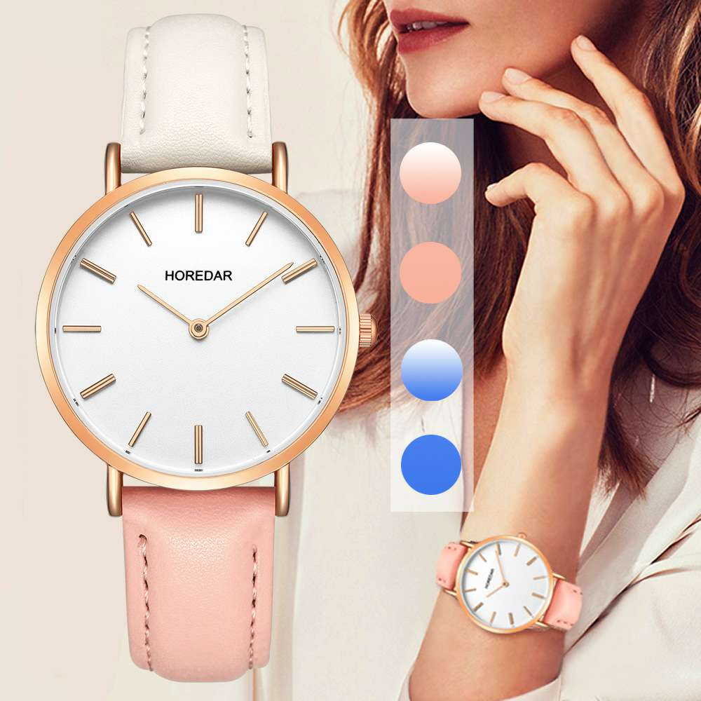 Top Brand Women 39 s Watches Leather Quartz Watch Women Thin Casual Strap Ladies Wristwatch Female Clock Fashion Reloj Mujer montre in Women 39 s Watches from Watches
