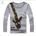 Camiseta para niños niñas niños niños de los niños de la jirafa patrón camisa Boys and girls shirt bebé zapatos de bebé embroma la camiseta 20#
