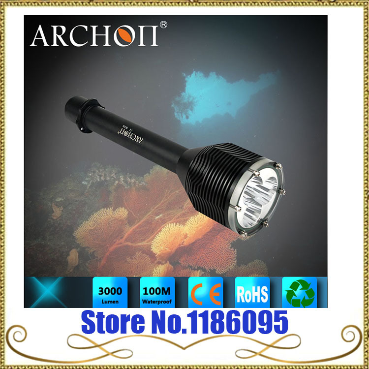 ARCHON D33 W39 Diving Light Flashight Torch 100M Underwater photographing max 3000 lumen