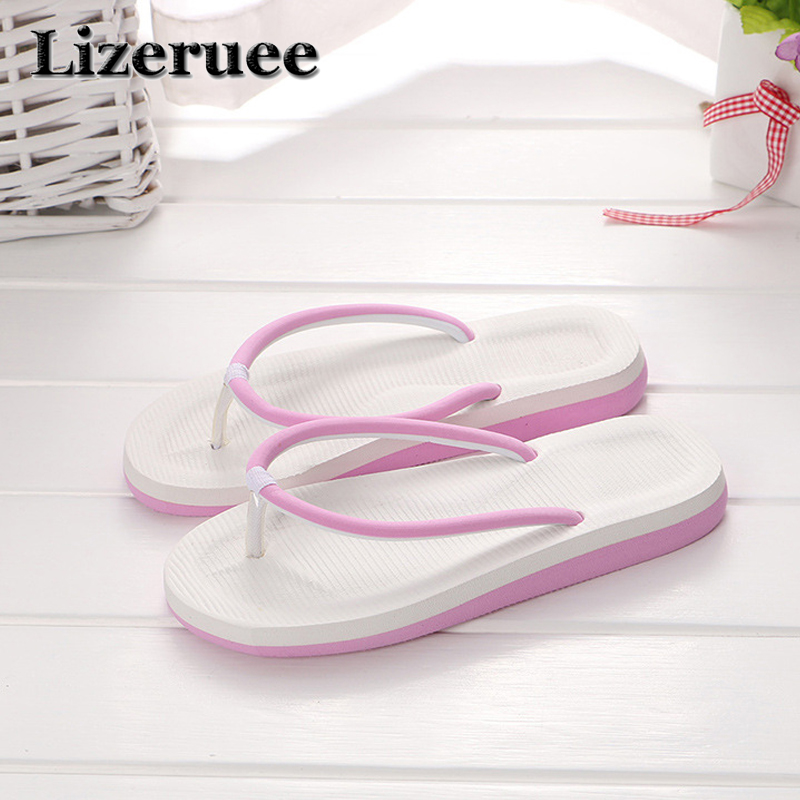 Summer Flip Flops Fashion Beach Lady Slippers Women Summer Flip Flop For Women Flat Heel Casual Outdoor Women Shoes Q81