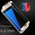 0.2mm Full Screen Tempered Glass For Samsung Galaxy S7 Edge/S6 Edge Plus Screen Protector 3D Curved Gorilla Glass On the S7 Edge
